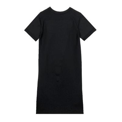 round patch dress
